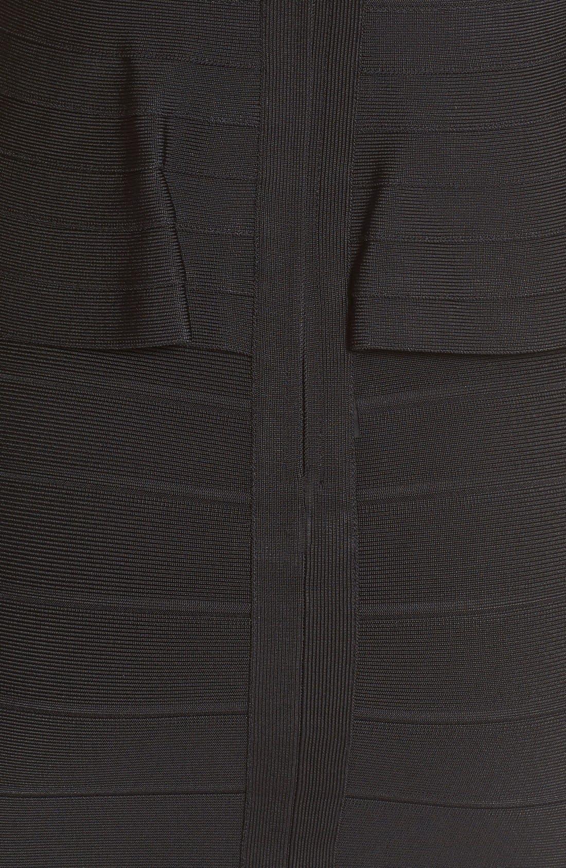 Alternate Image 3  - Herve Leger Sleeveless V-Neck Peplum Dress