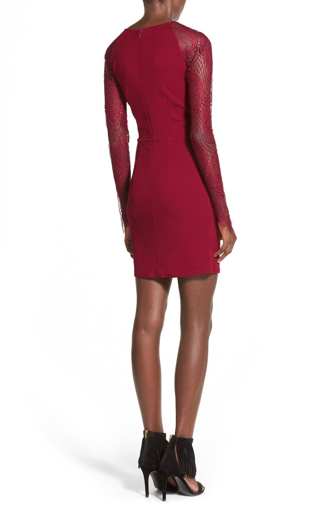Alternate Image 2  - Missguided Lace-Up Body-Con Dress