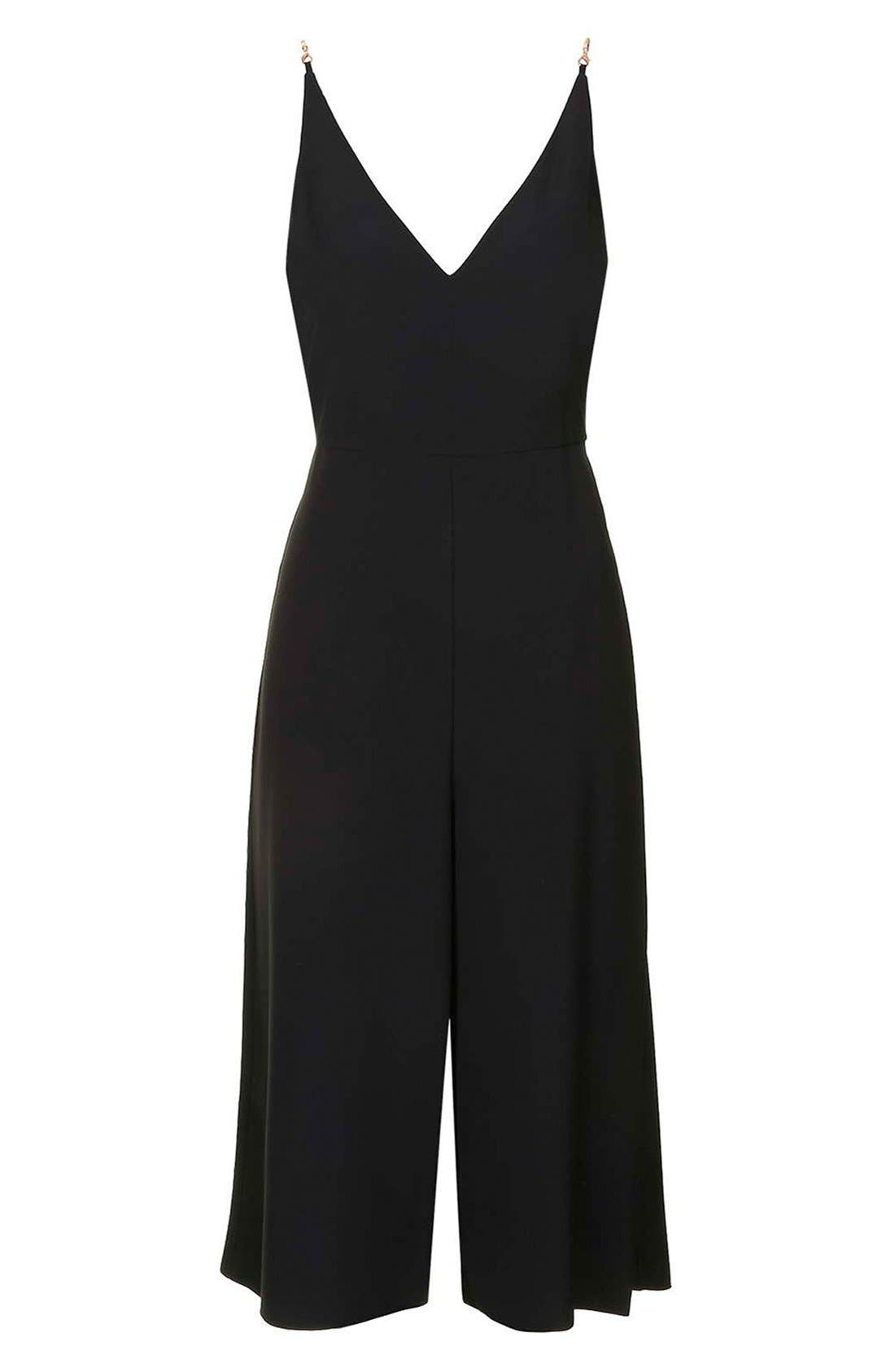 Alternate Image 3  - Topshop V-Neck Culotte Jumpsuit