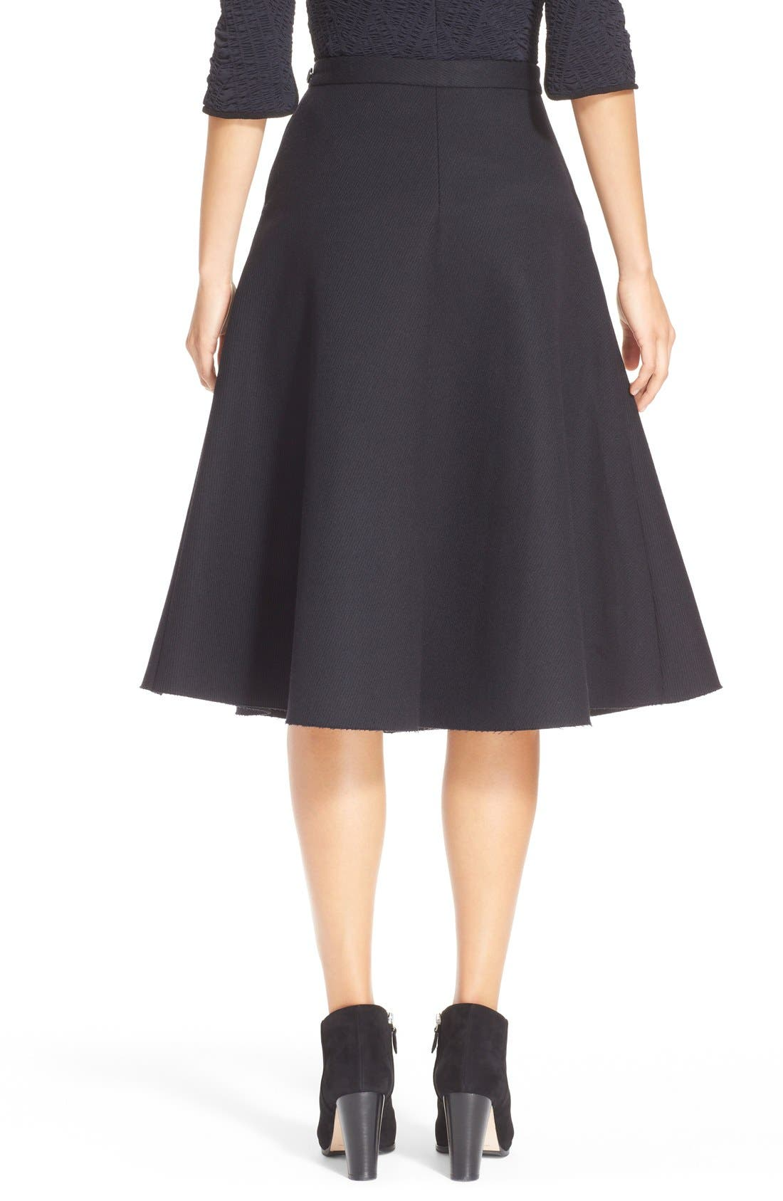 Alternate Image 2  - ELLERY 'Saturn' Flared Wool Blend Skirt