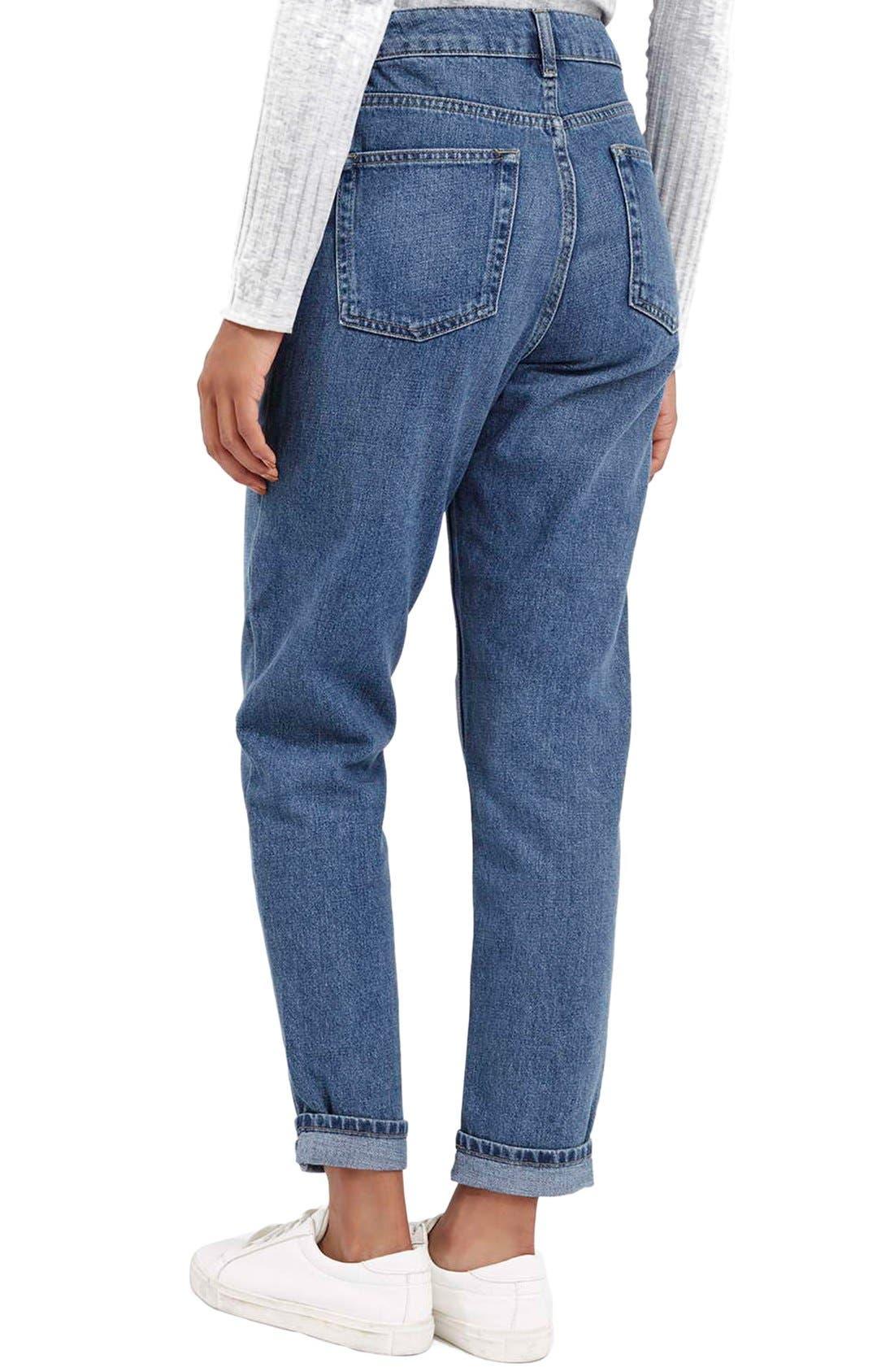 Alternate Image 3  - Topshop Moto High Rise Crop Jeans (Dark Denim)