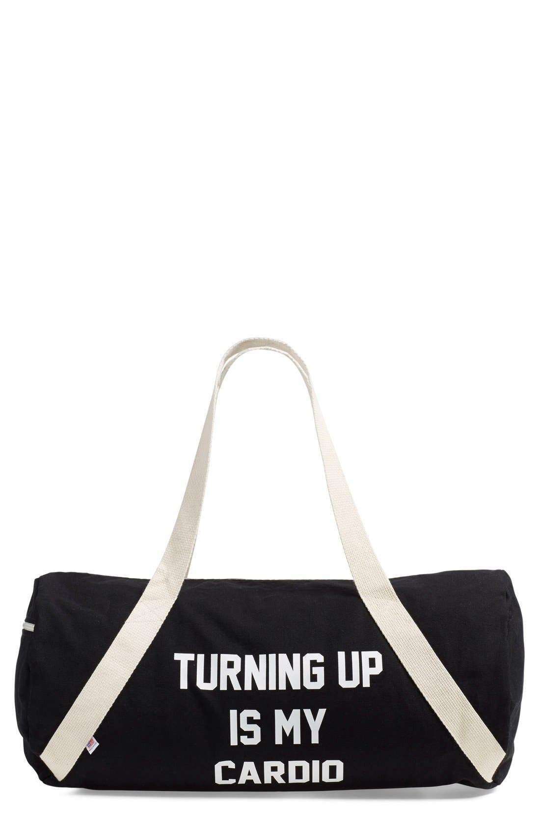 Alternate Image 1 Selected - Private Party 'Turning Up Is My Cardio' Duffel Bag