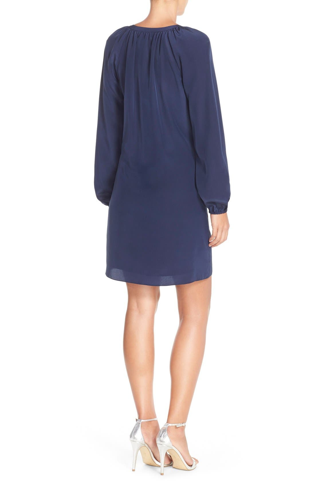 Alternate Image 2  - Lilly Pulitzer® 'Roslyn' Embroidered Silk Tunic Dress