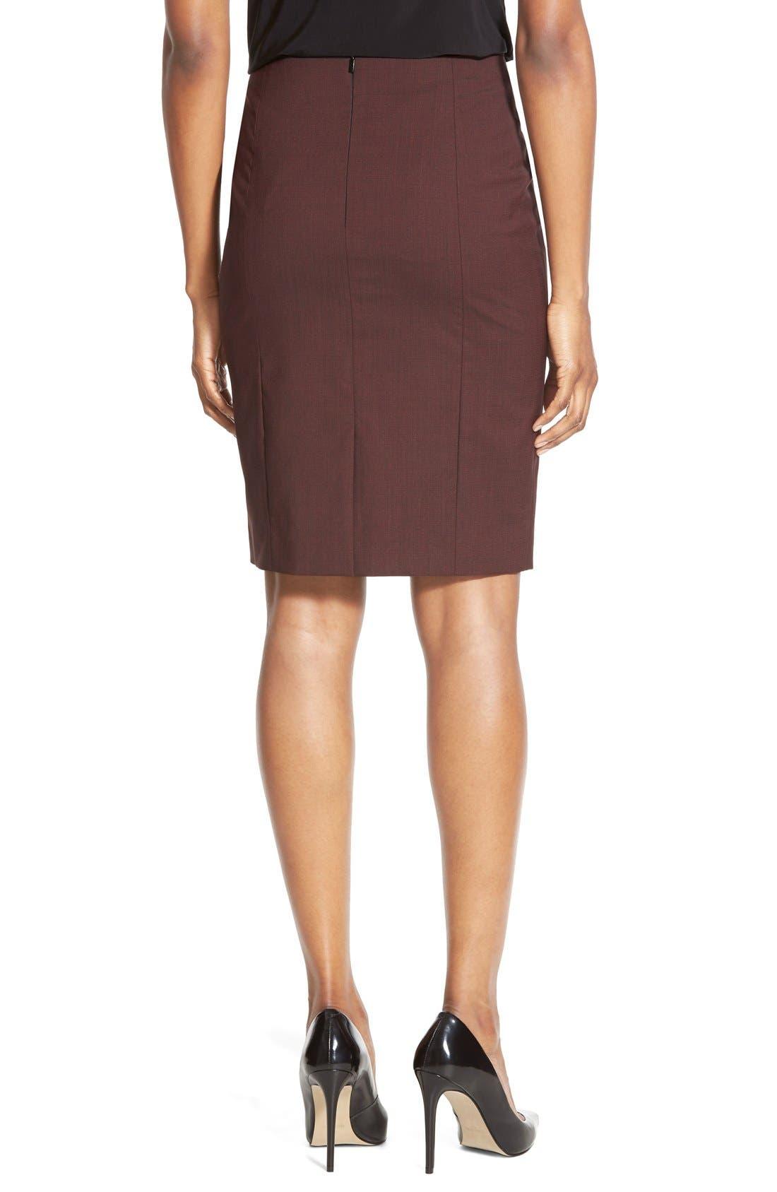 Alternate Image 2  - BOSS 'Vabina' Wool Pencil Skirt