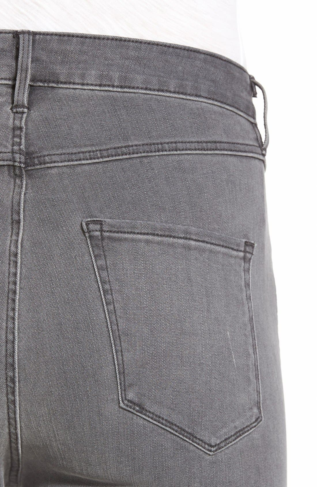 Alternate Image 4  - 3x1 NYCHigh Rise Destroyed Skinny Jeans (Golf Grey Decon)