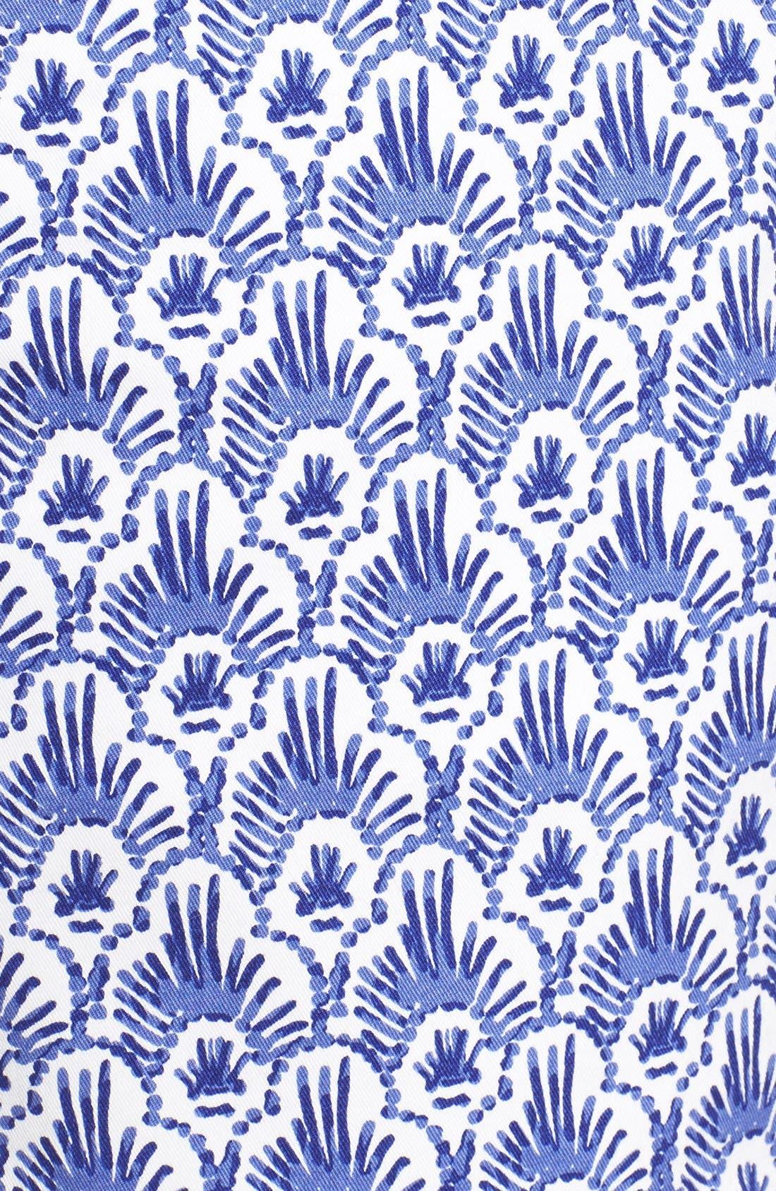 Alternate Image 4  - Vineyard Vines Feather Print Stretch Cotton Shorts