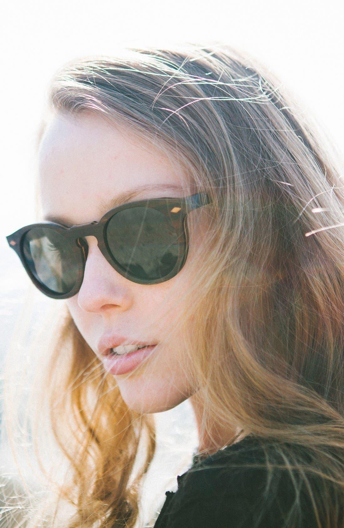 Alternate Image 2  - Shwood 'Florence' 49mm Polarized Wood Sunglasses