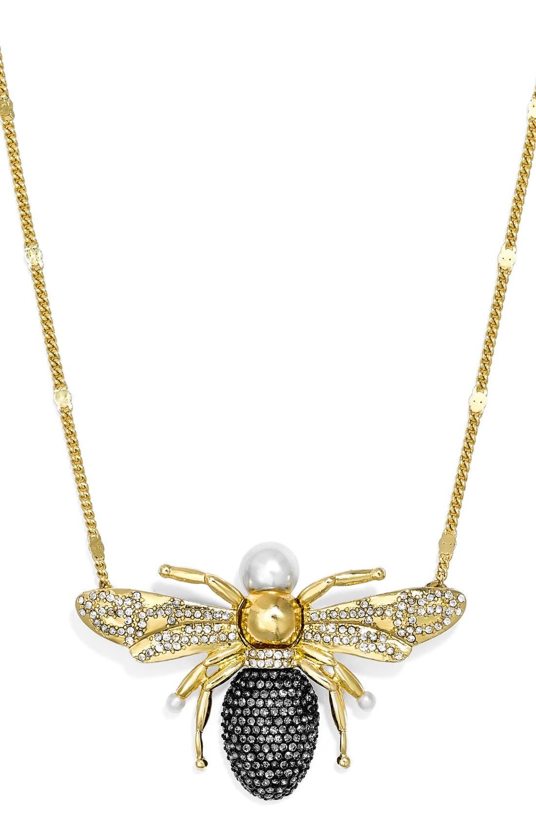Alternate Image 2  - BaubleBar x Olivia Palermo 'Queen Bee' Pendant Necklace