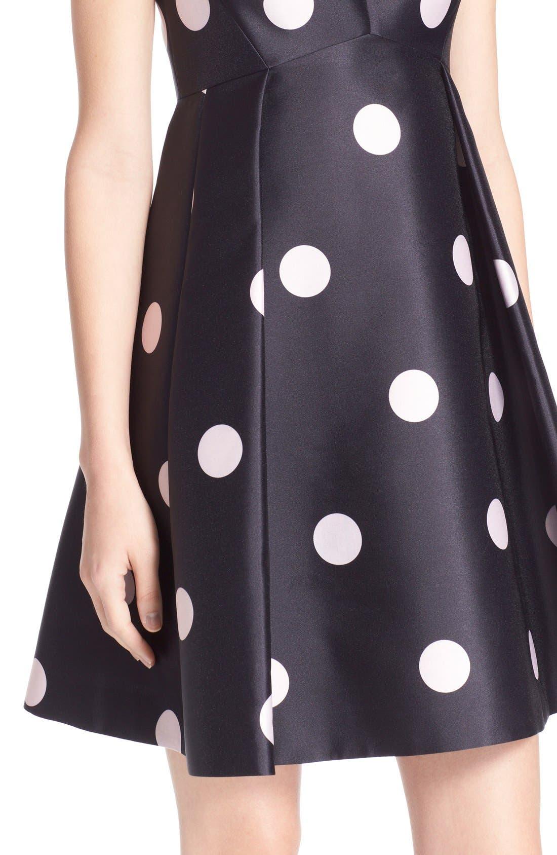 Alternate Image 4  - kate spade new york v-neck polka dot fit & flare dress