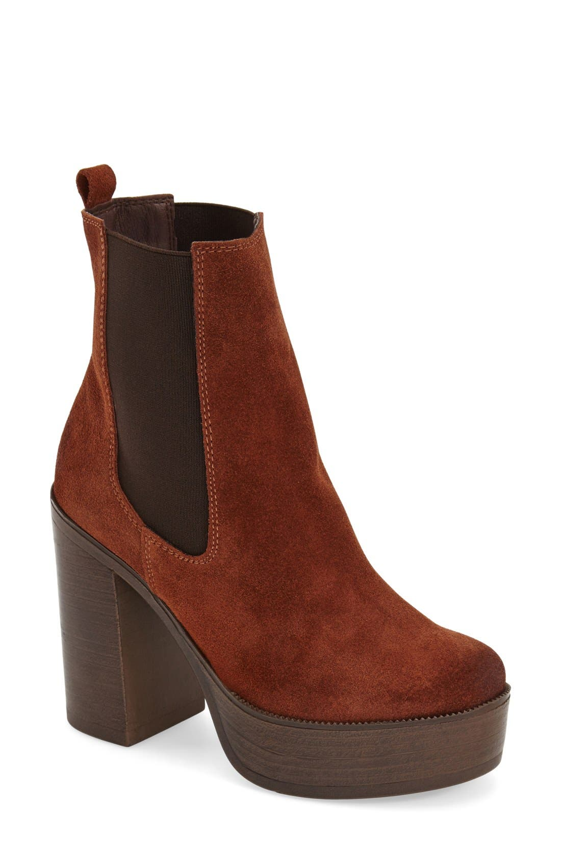 Main Image - Topshop 'Holly '70s' Chunky Heel Ankle Boot (Women)