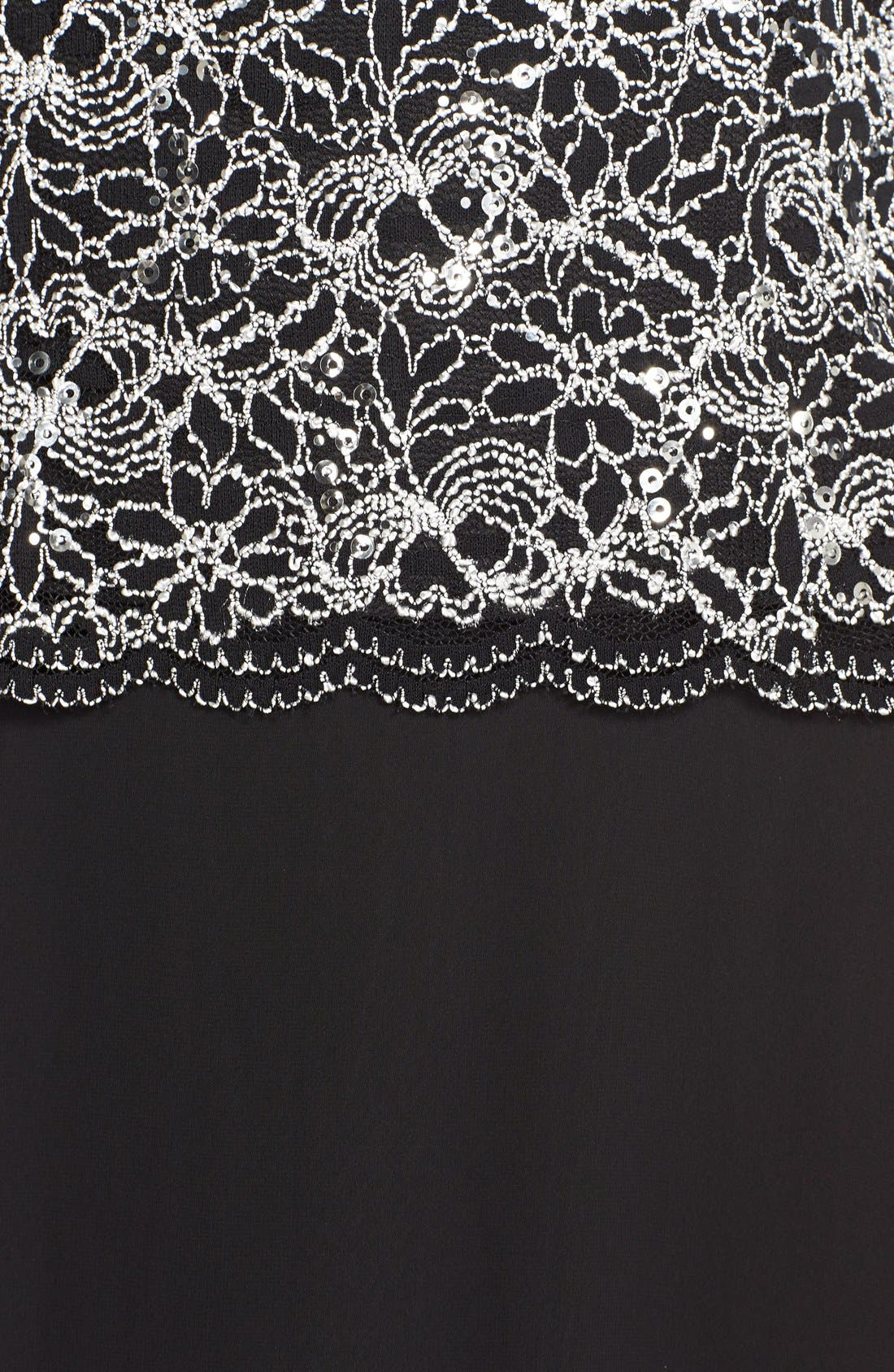 Alternate Image 5  - Alex Evenings Lace & Chiffon Mock Two-Piece Gown (Regular & Petite)