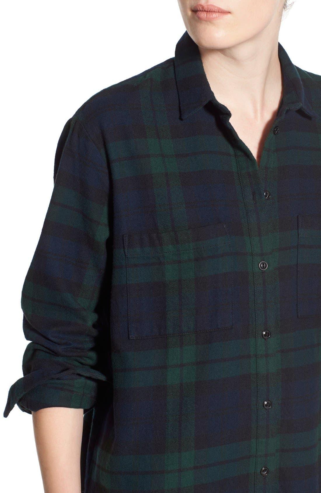 Alternate Image 5  - Madewell Plaid Oversize Cotton Shirt
