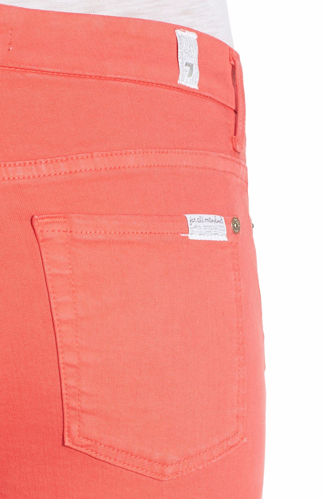 Alternate Image 4  - 7 For All Mankind® 'Slim Illusion' Colored Ankle Skinny Jeans
