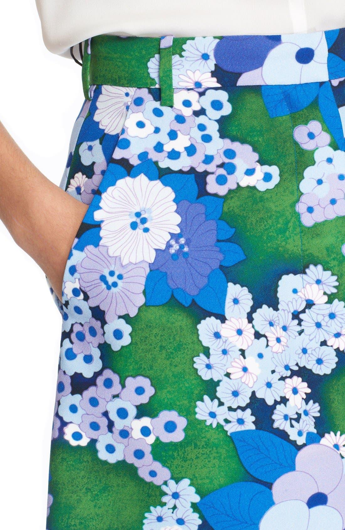 Alternate Image 4  - Carven Floral Print A-Line Skirt