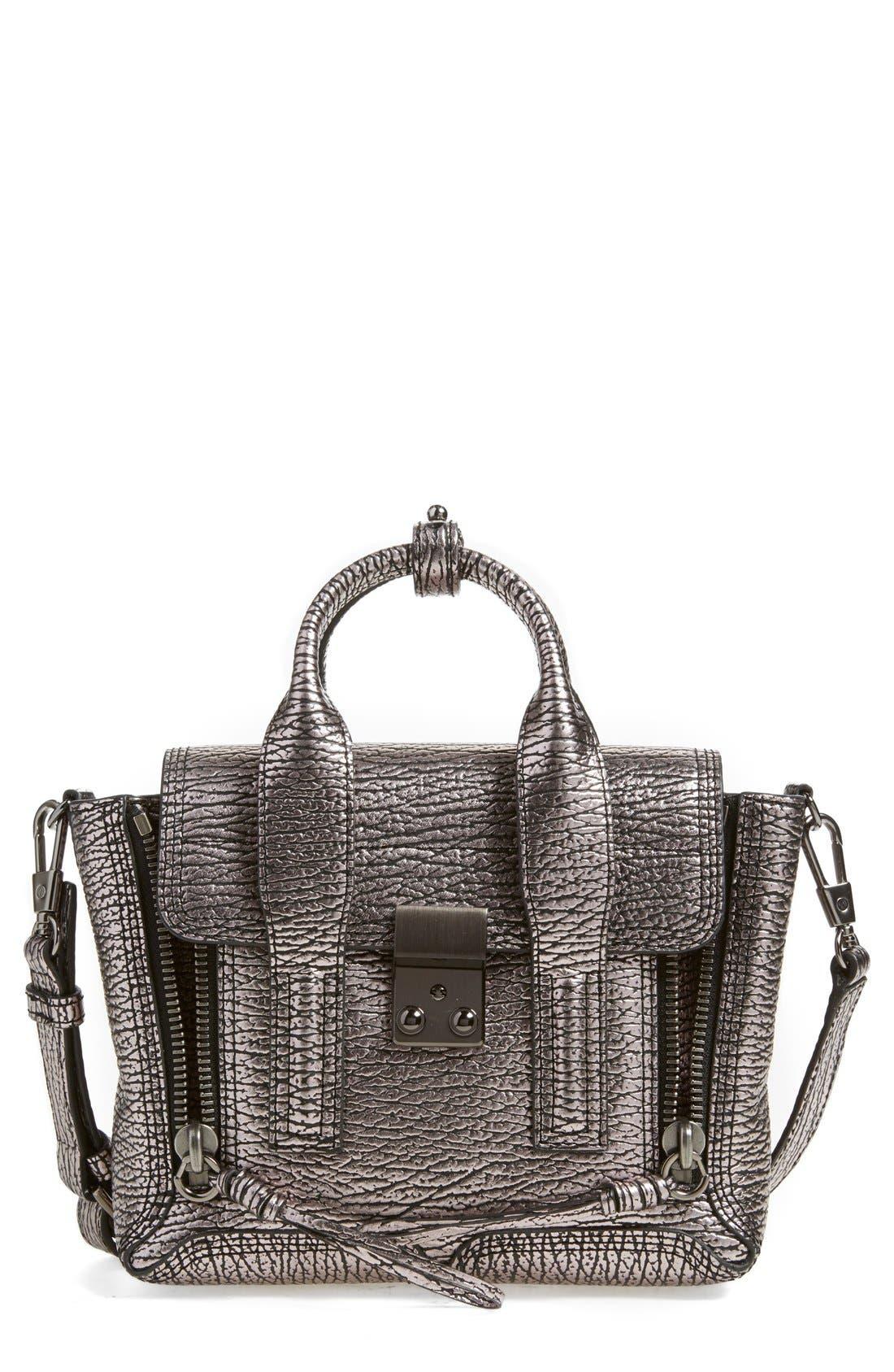 Alternate Image 1 Selected - 3.1 Phillip Lim 'Mini Pashli' Metallic Leather Satchel