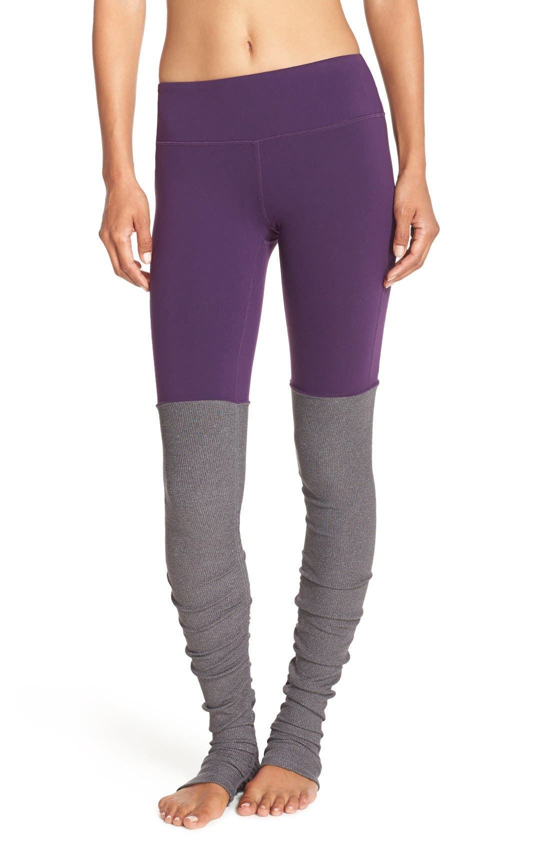 Main Image - Alo 'Goddess' Ribbed Leggings