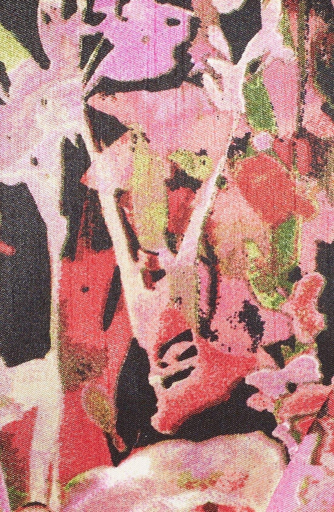 Alternate Image 7  - Gabby Skye Floral Shantung Fit & Flare Dress (Plus Size)
