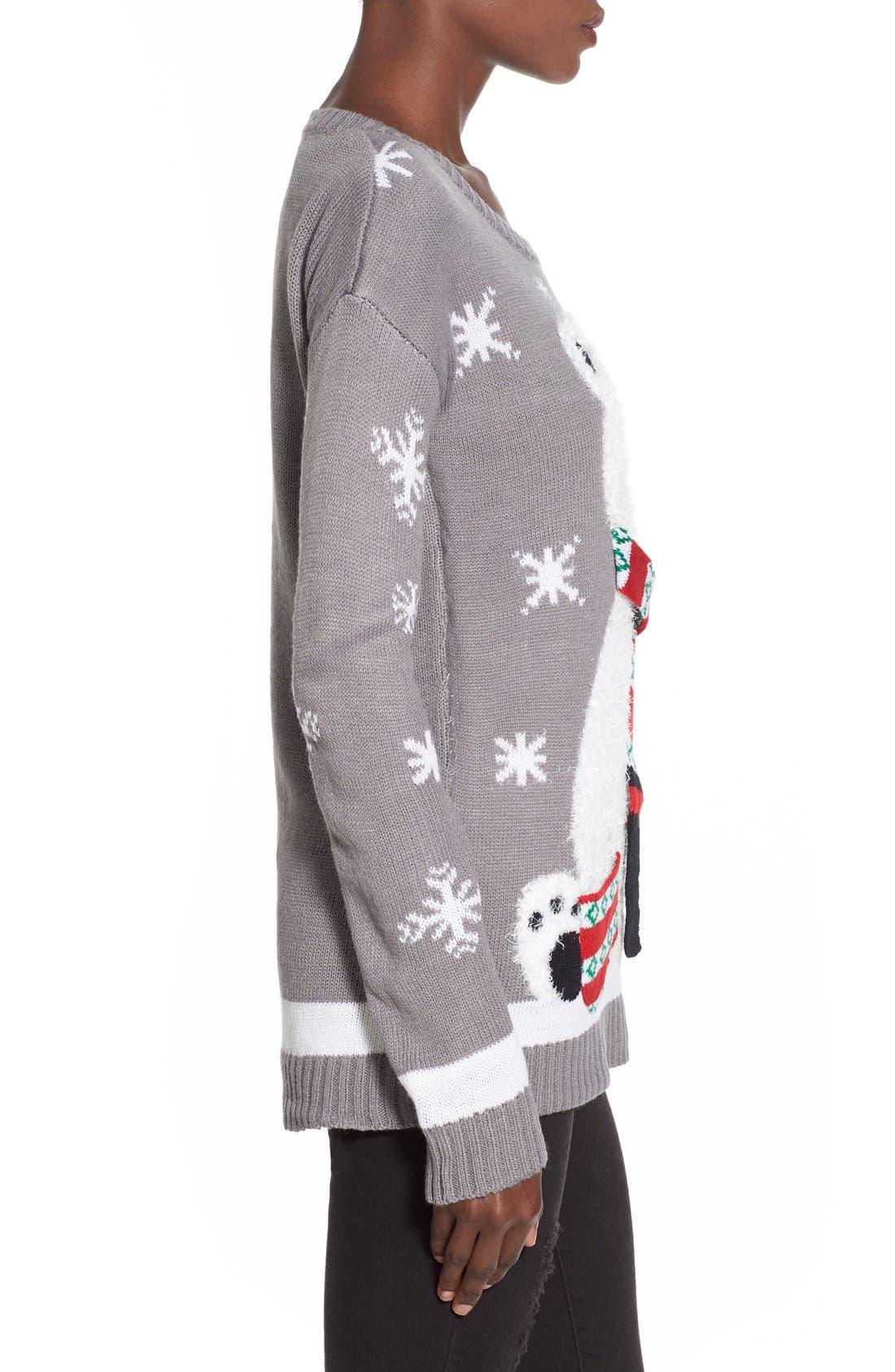 Alternate Image 3  - Derek Heart Polar Bear Christmas Sweater