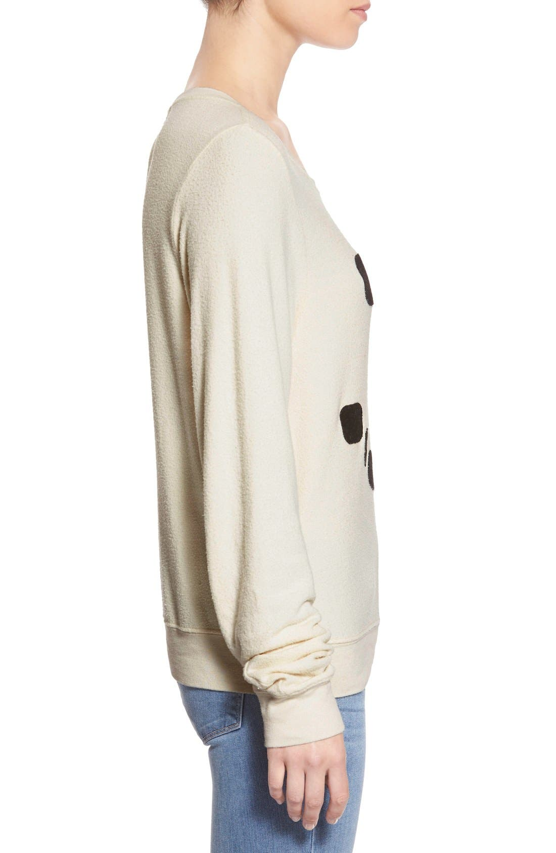Alternate Image 3  - Wildfox 'Baggy Beach Jumper - Frosty Face' Pullover