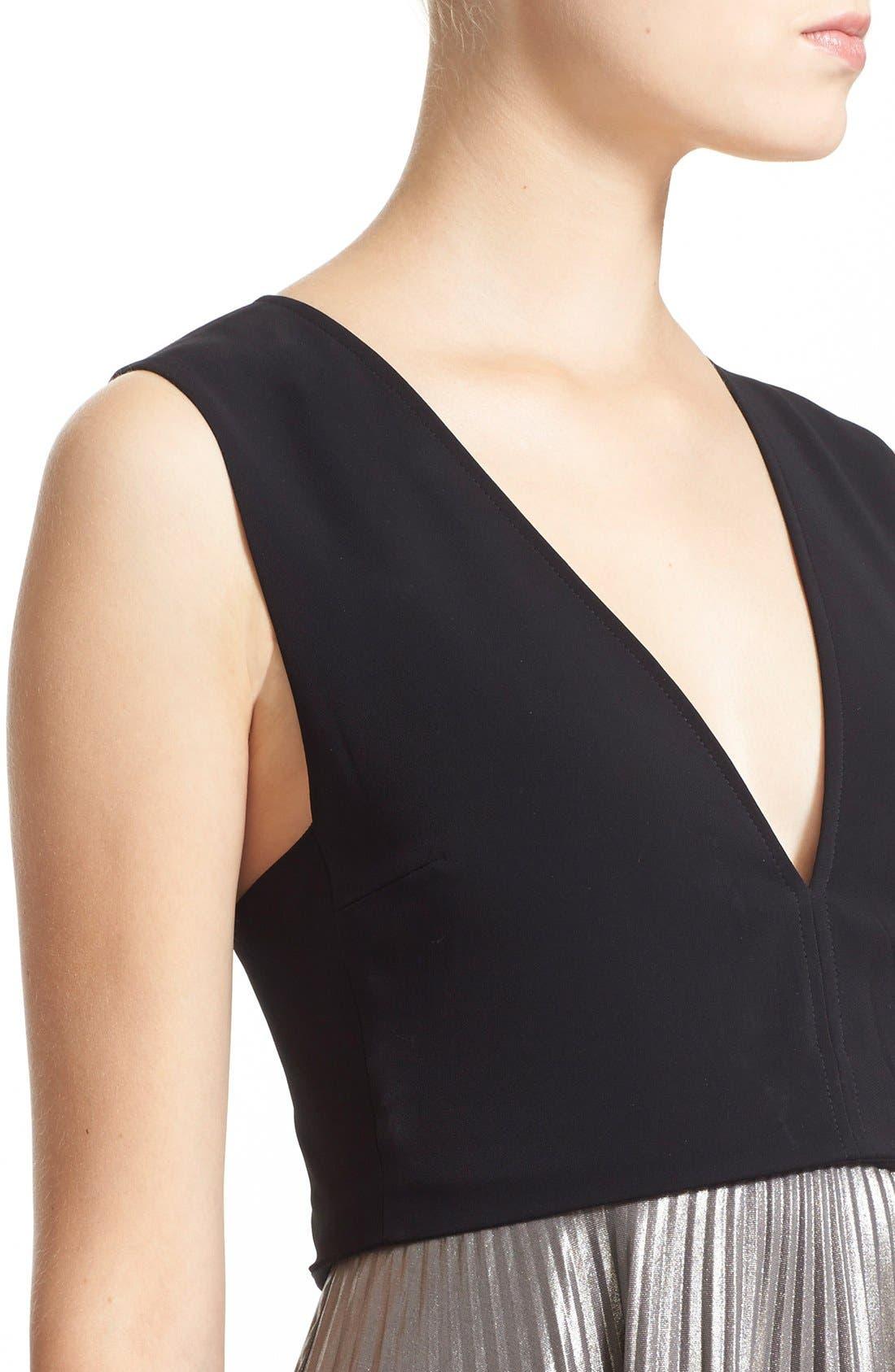Alternate Image 4  - A.L.C. 'Emilia' Pleated Midi Dress