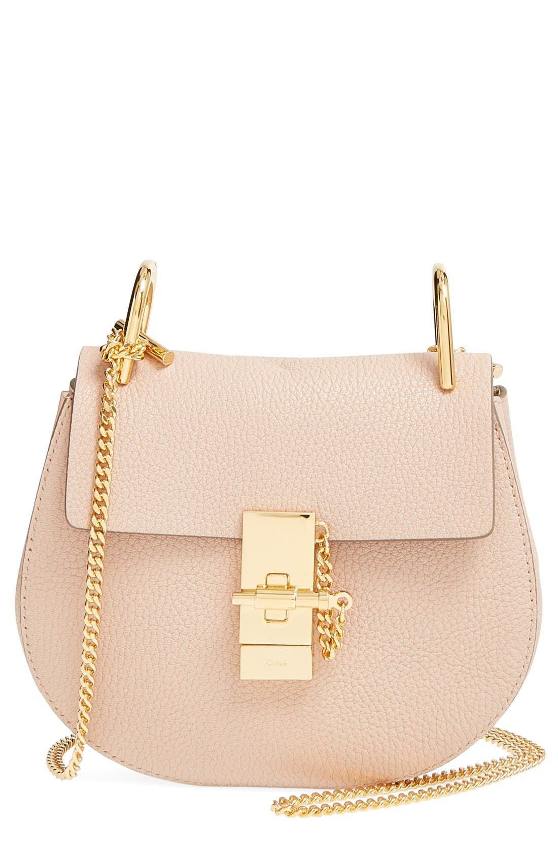 Main Image - Chloé 'Mini Drew' Leather Shoulder Bag