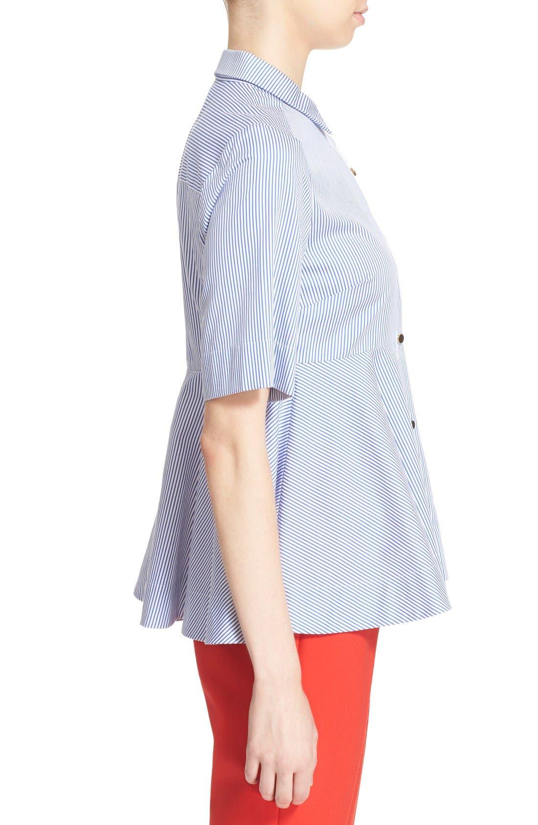Alternate Image 3  - kate spade new york stripe peplum shirt