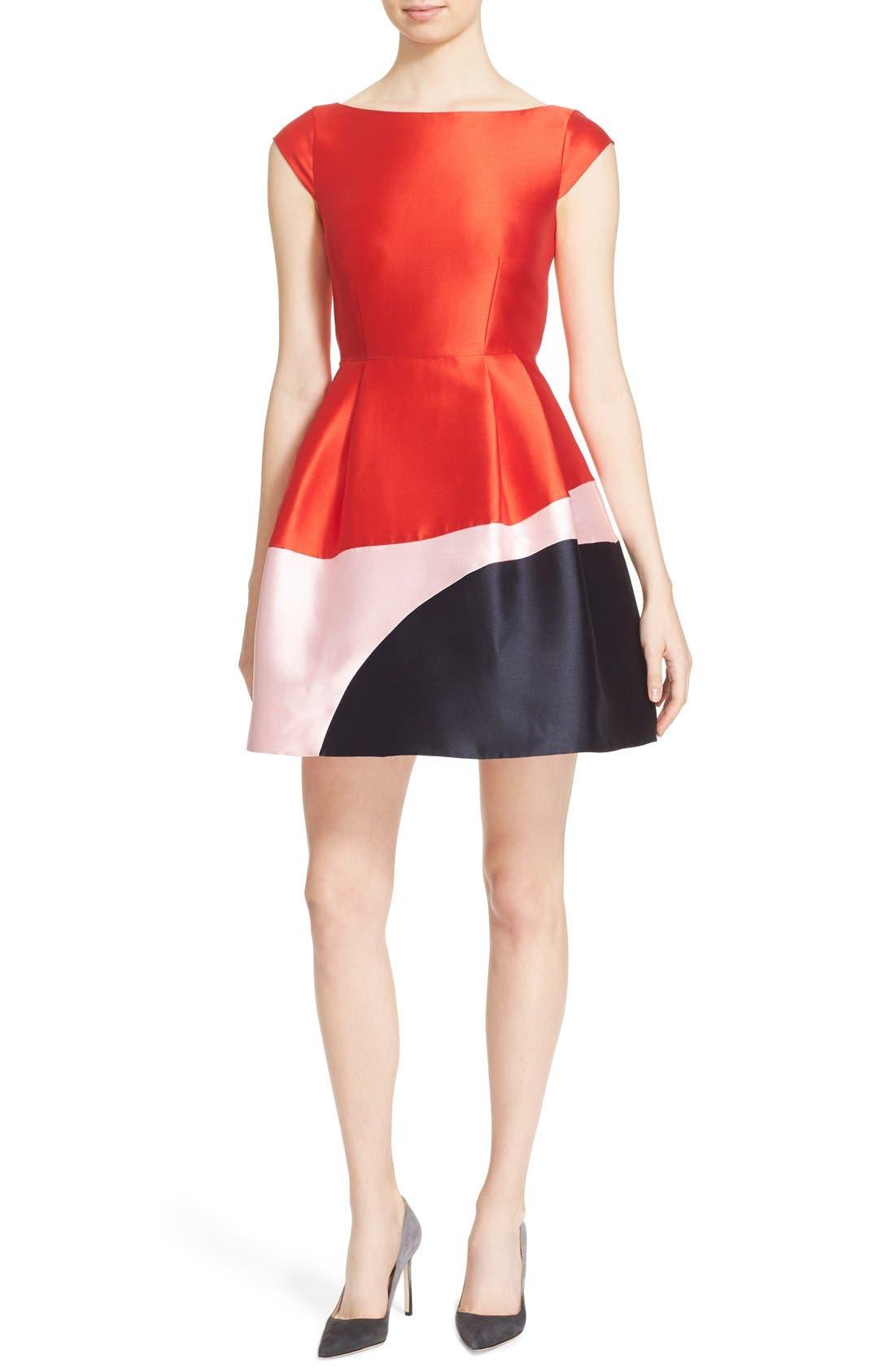 Alternate Image 1 Selected - kate spade new york colorblock fit & flare dress