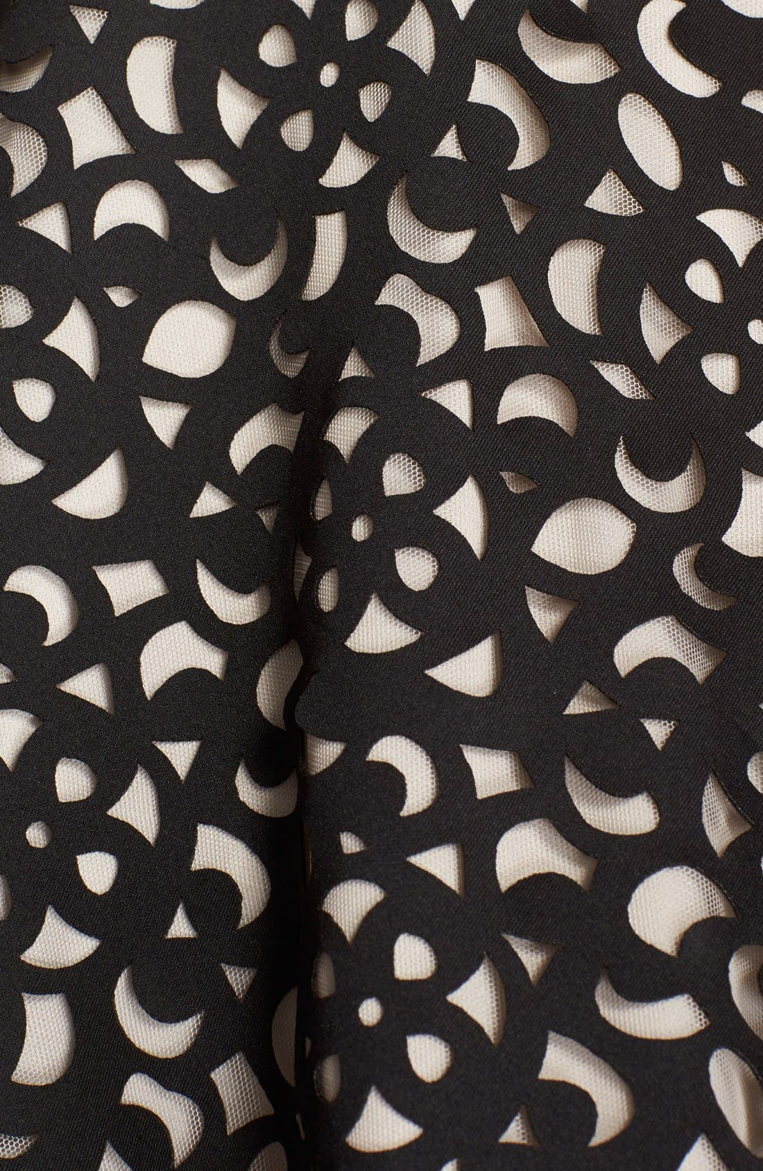 Alternate Image 7  - XscapeLaser Cut Scuba Fit & Flare Dress