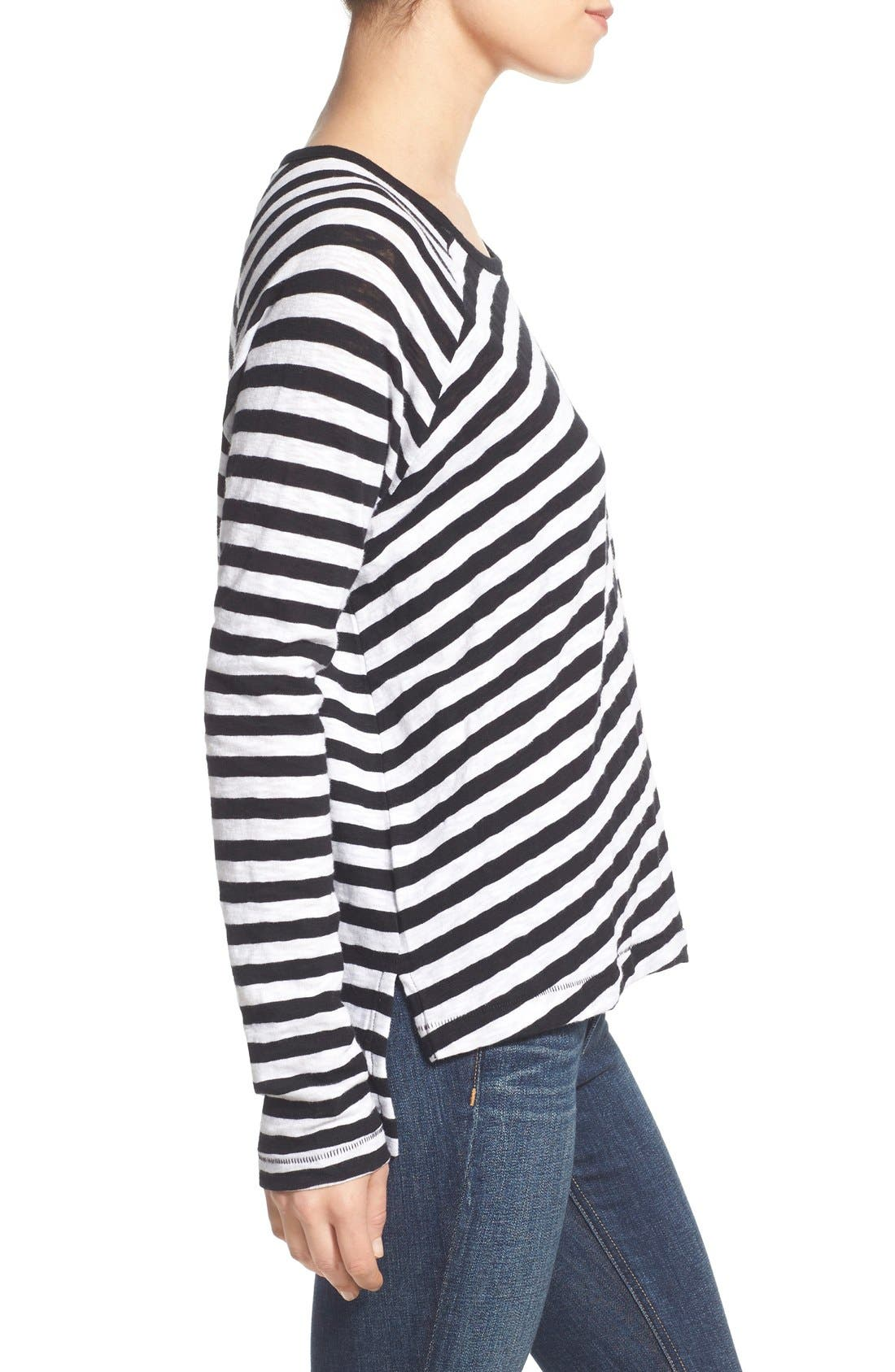 Alternate Image 3  - rag & bone/JEAN 'Camden' Stripe Long Sleeve Tee