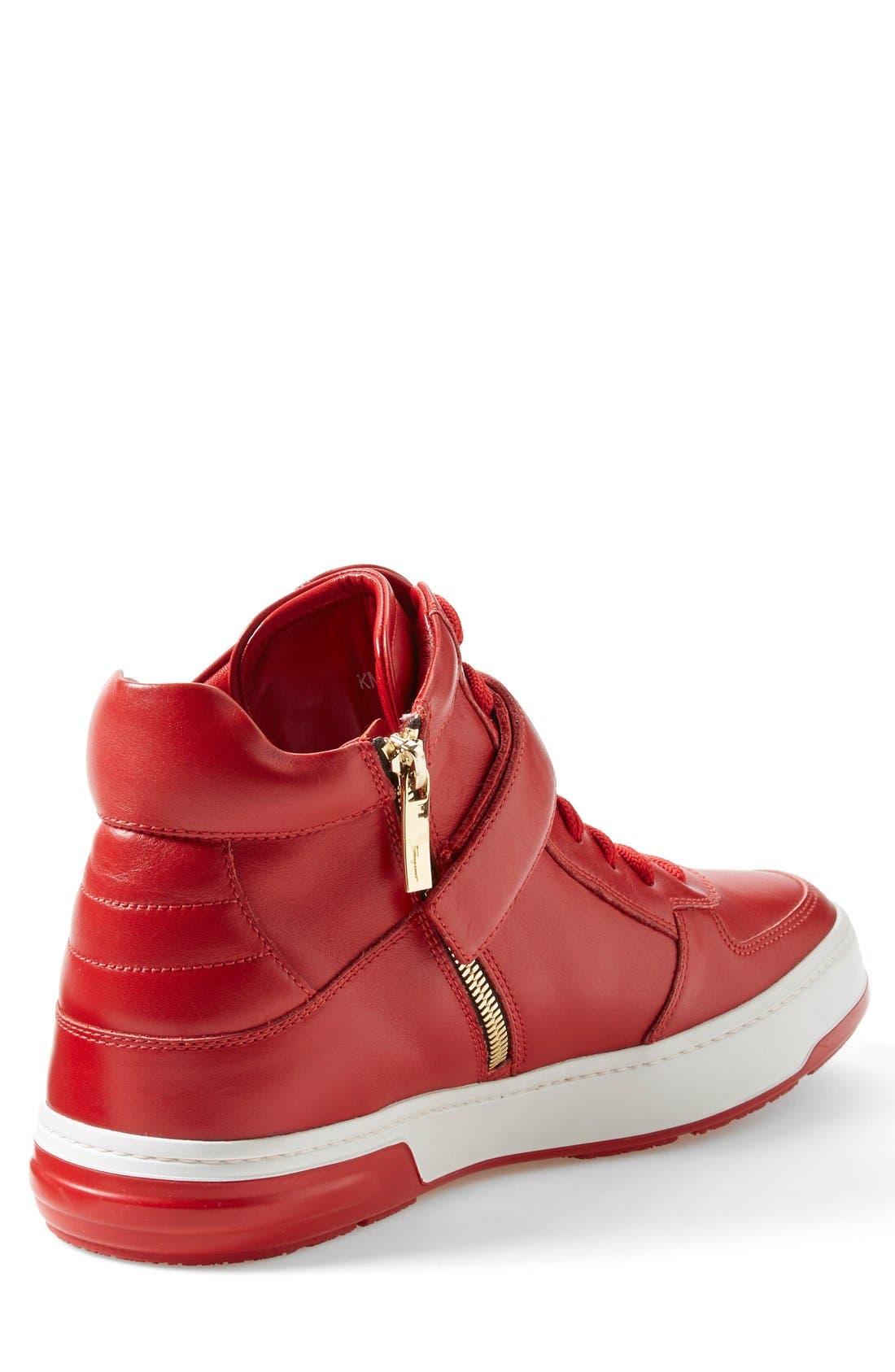Alternate Image 2  - Salvatore Ferragamo 'Nayon' High Top Sneaker (Men)