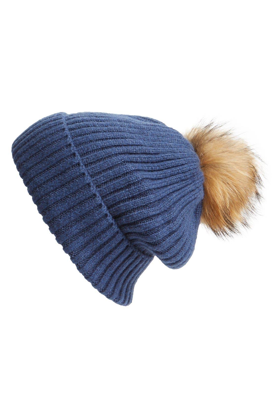 Alternate Image 1 Selected - Linda Richards Genuine Raccoon Fur Hat