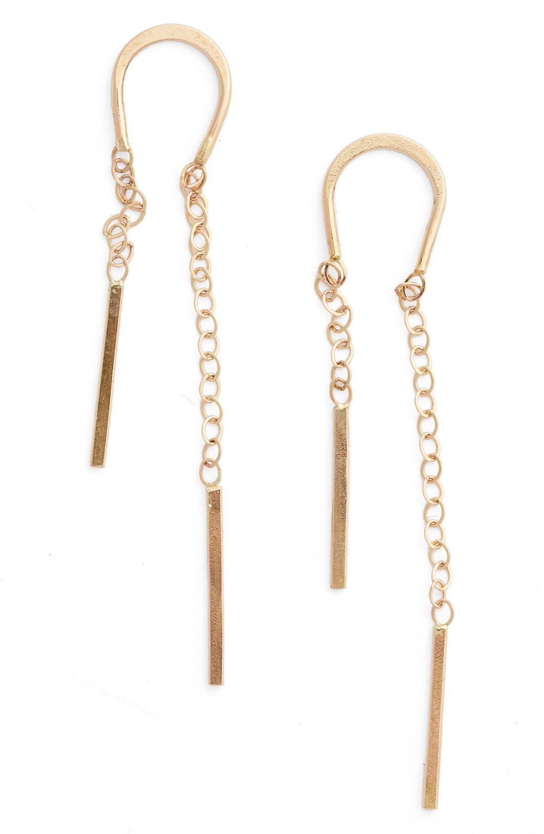 Alternate Image 1 Selected - Melissa Joy Manning Gold Threader Earrings