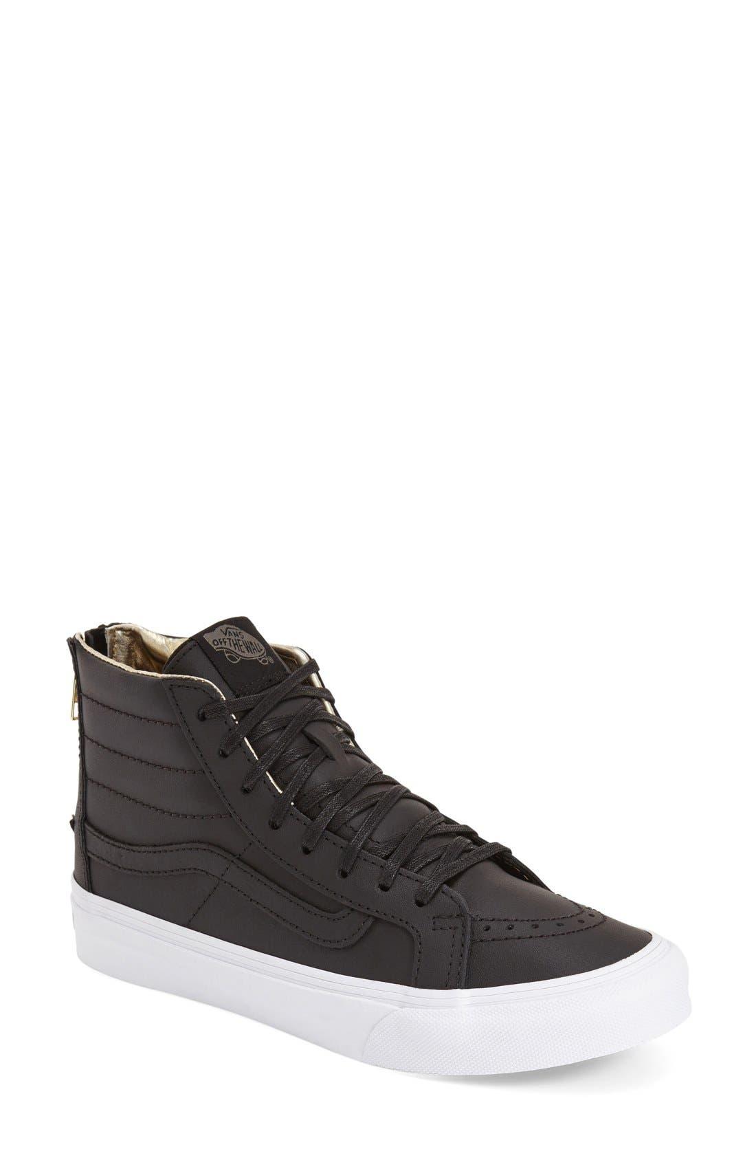 Alternate Image 1 Selected - Vans 'Sk8-Hi Slim' Zip Sneaker (Women)