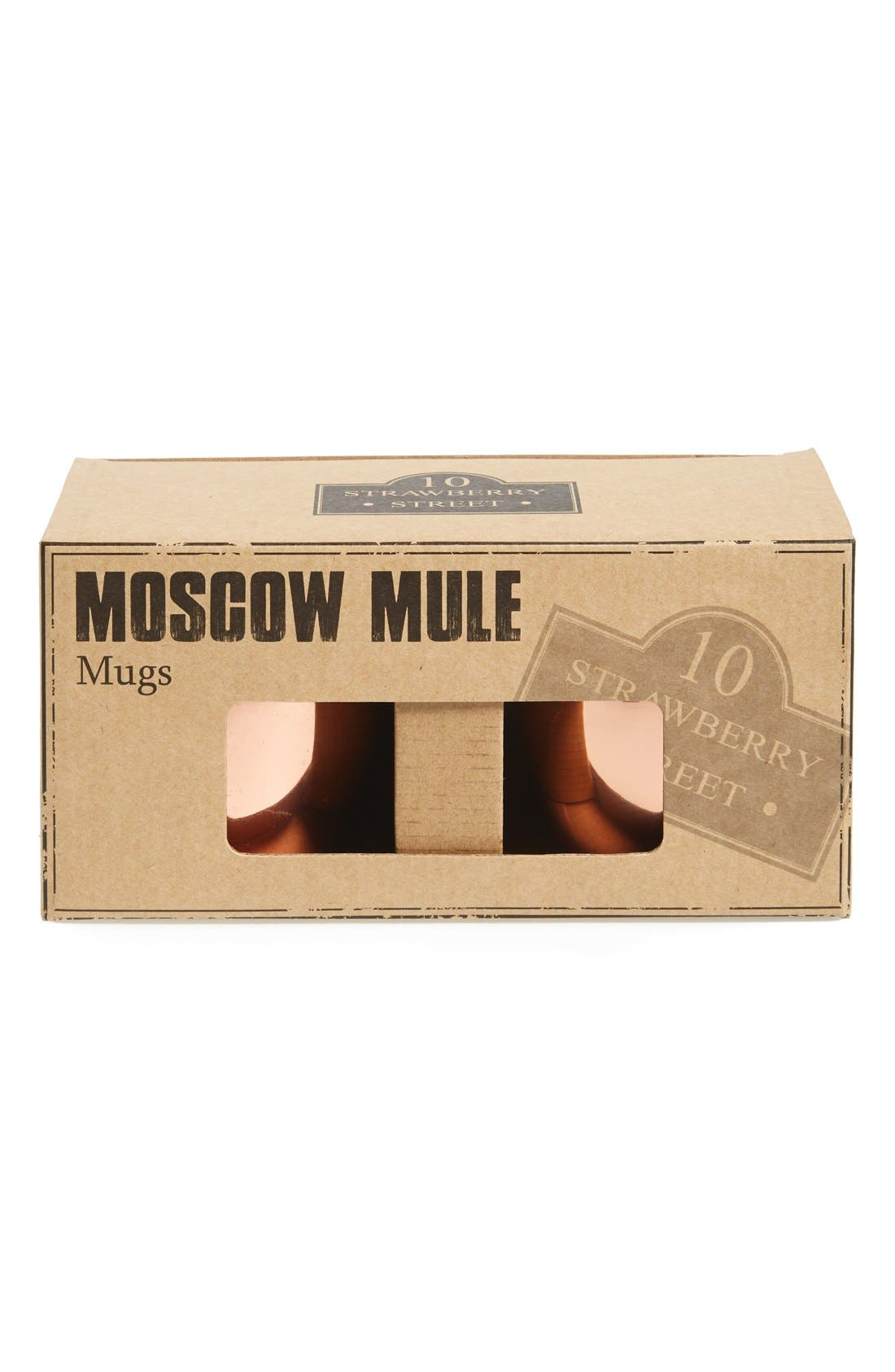 Alternate Image 2  - 10 Strawberry Street 'Moscow Mule' Copper Mugs (Set of 2)
