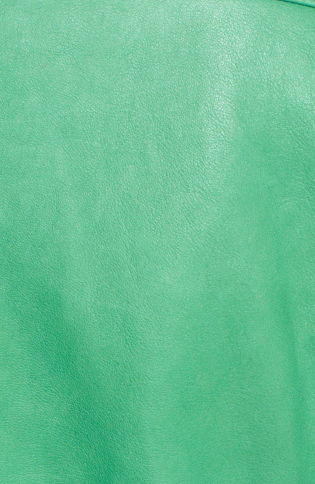 Alternate Image 3  - Tomas Maier Nappa Leather Moto Jacket