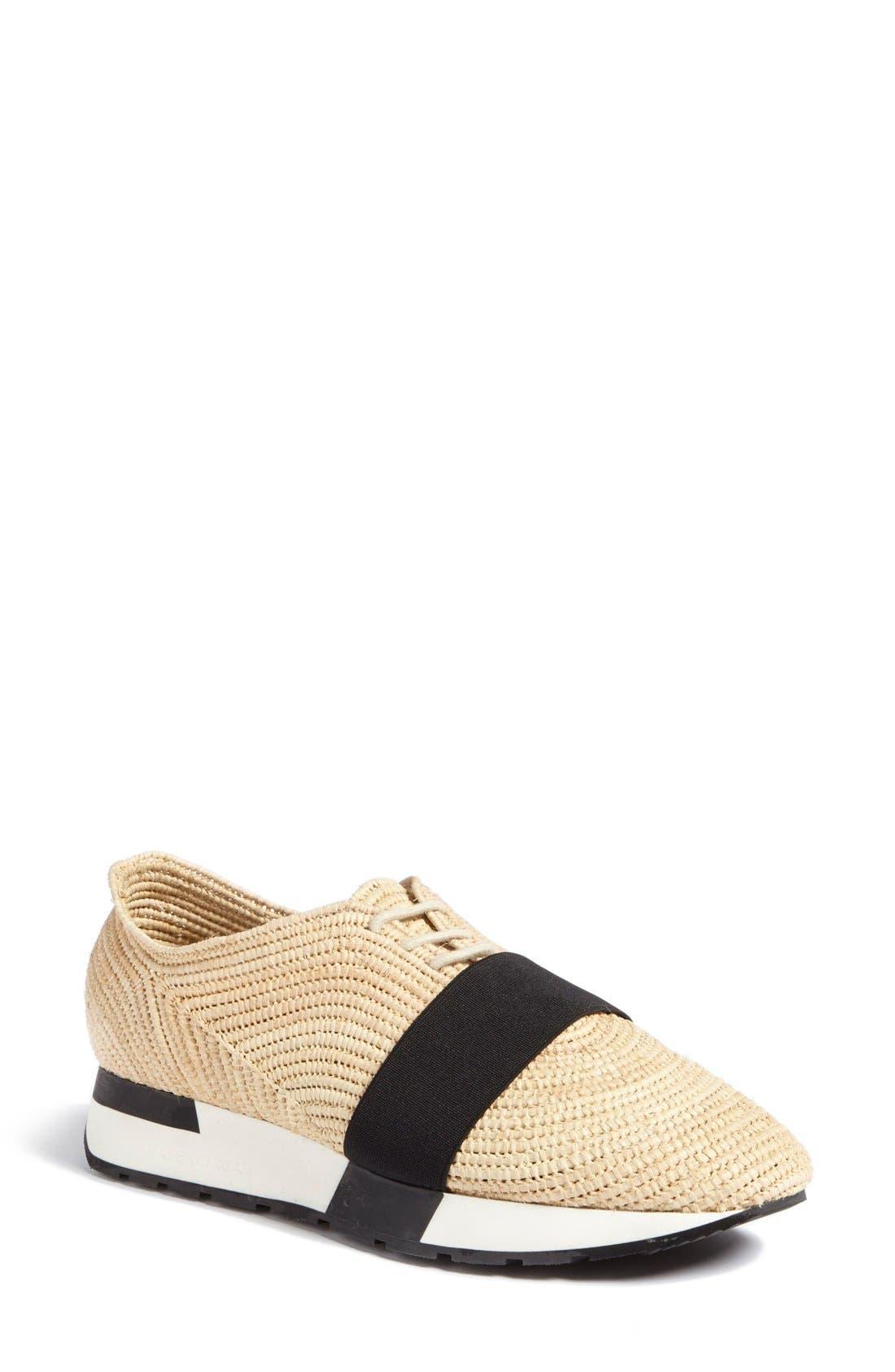 Alternate Image 1 Selected - Balenciaga 'Runner' Raffia Sneaker (Women)