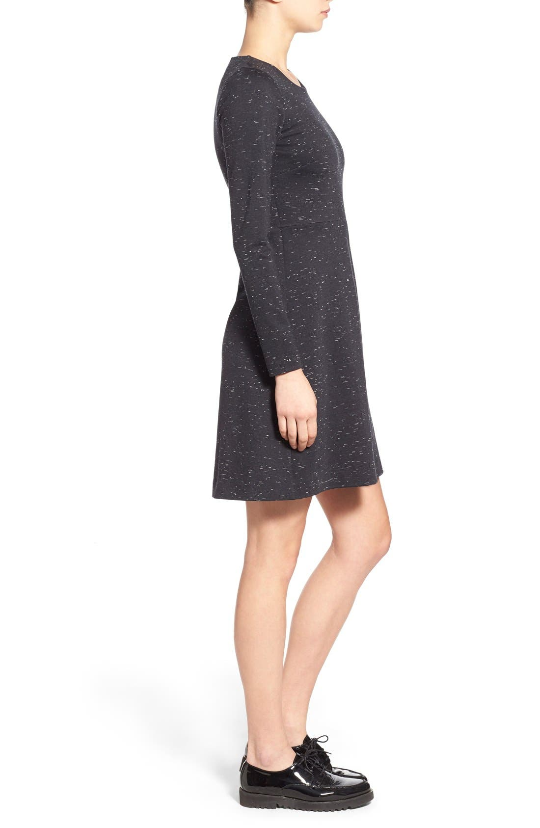 Alternate Image 4  - Madewell 'Gia' Marled Fit & Flare Dress