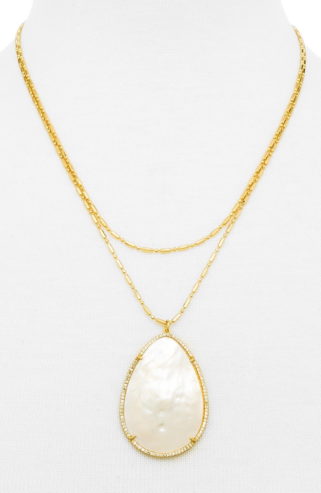 Alternate Image 2  - BaubleBar 'Seashell' Pendant Necklace