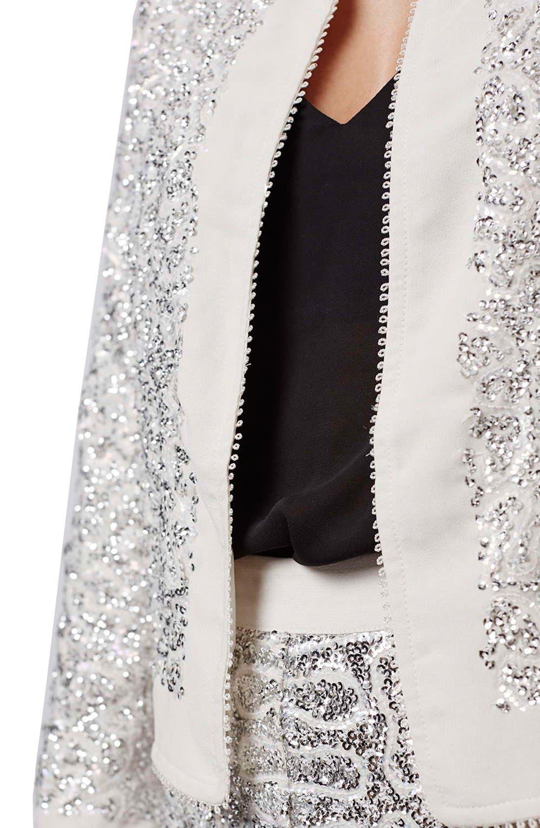 Alternate Image 5  - Topshop Sequin Embellished Jacket (Petite)