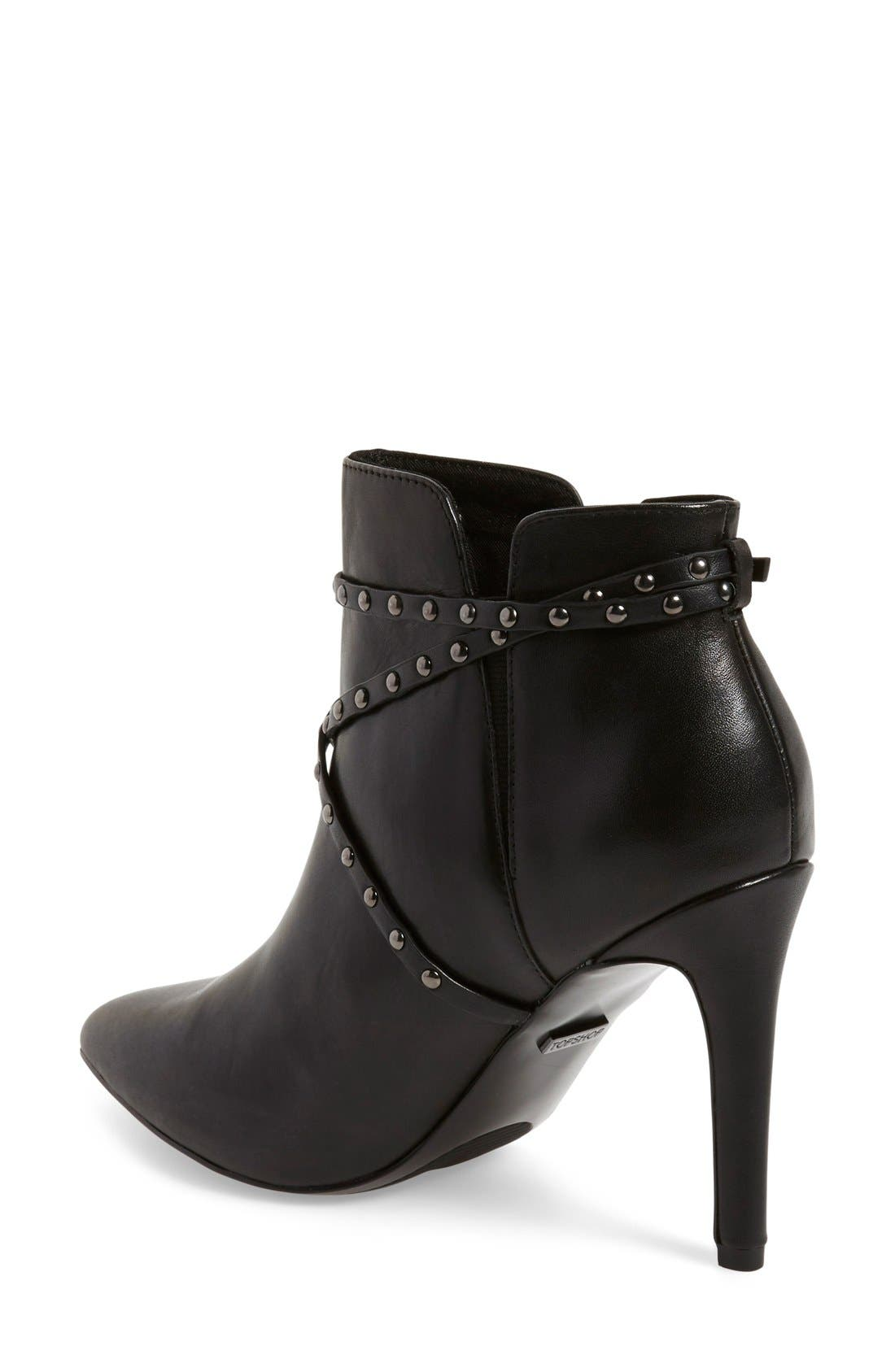 Alternate Image 2  - Topshop 'Humour' Studded Pointy Toe Bootie (Women)