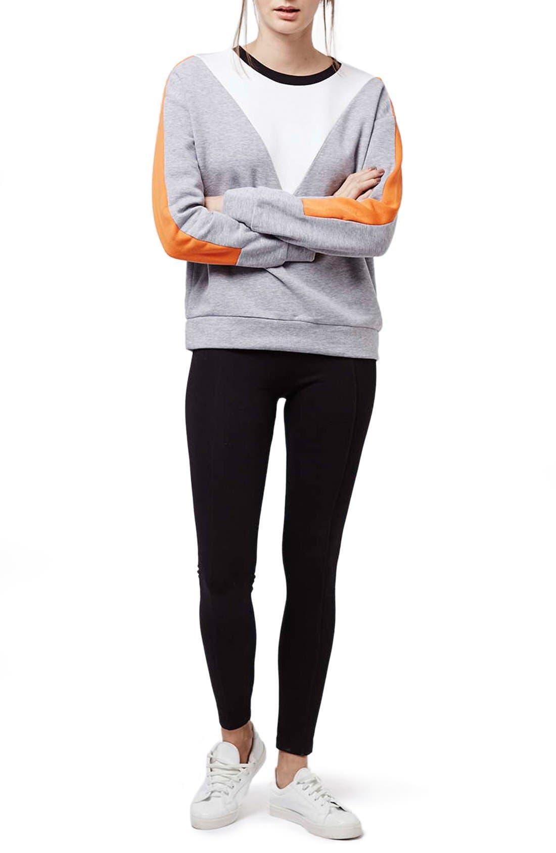 Alternate Image 2  - Topshop Elastic Stripe Leggings