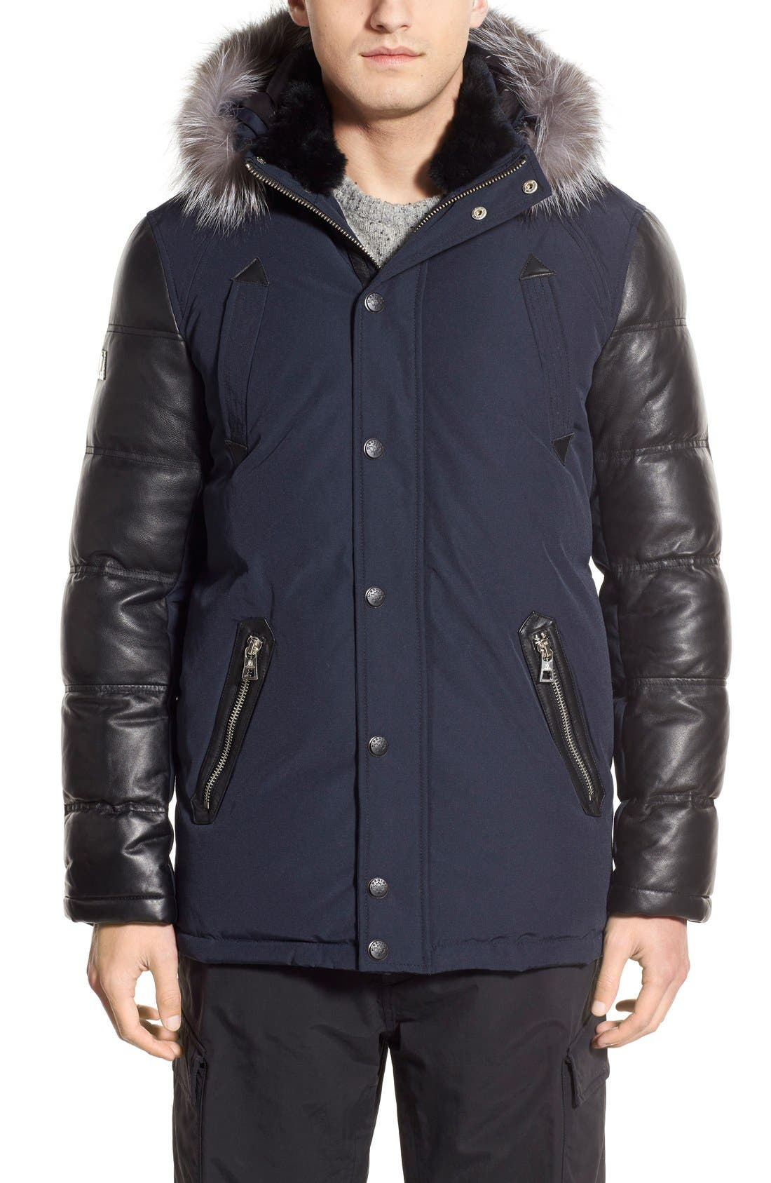 M. BENISTI Water Resistant Down Jacket with Genuine