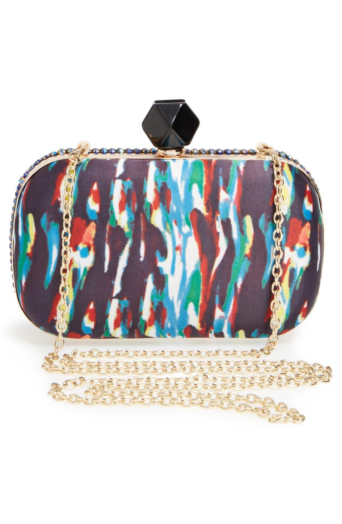 Alternate Image 3  - Natasha Couture Crystal Box Clutch