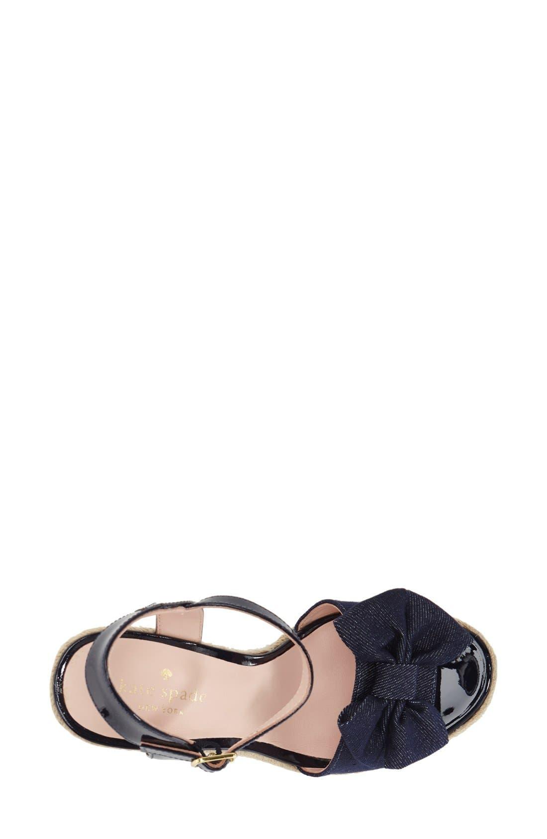 Alternate Image 3  - kate spade new york 'darya' wedge sandal (Women)