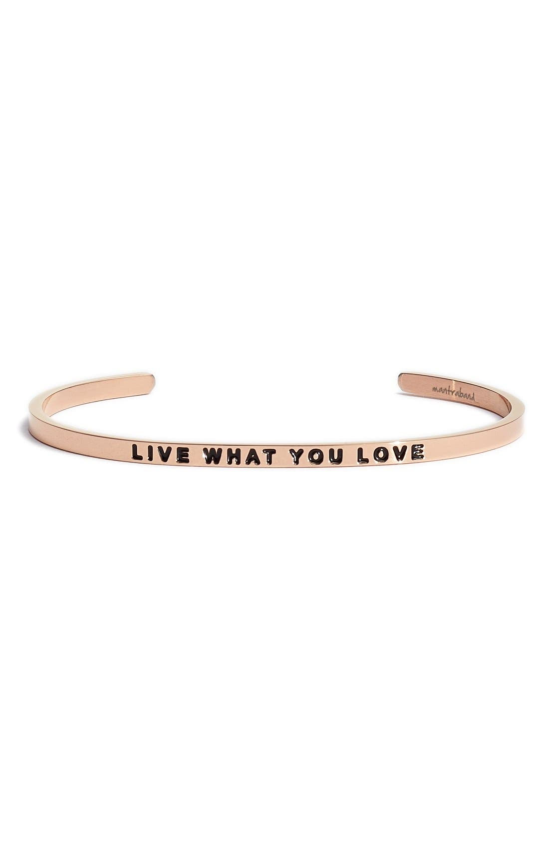 Alternate Image 1 Selected - MantraBand® 'Live What You Love' Cuff