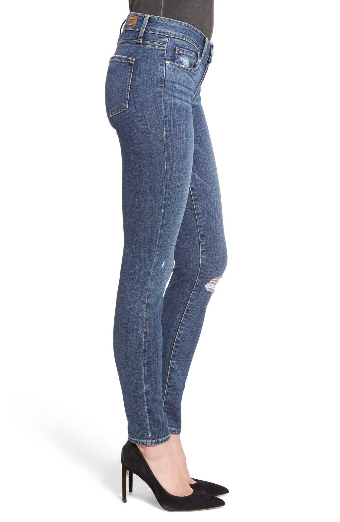 Alternate Image 3  - Paige Denim 'Transcend - Verdugo' Ultra Skinny Jeans (Silas Destructed)
