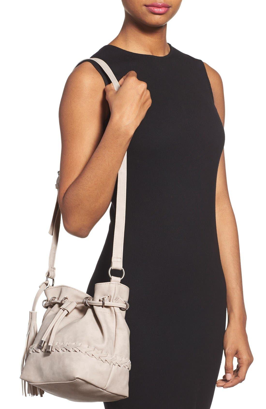 Alternate Image 2  - Dolce Girl Woven Detail Bucket Bag