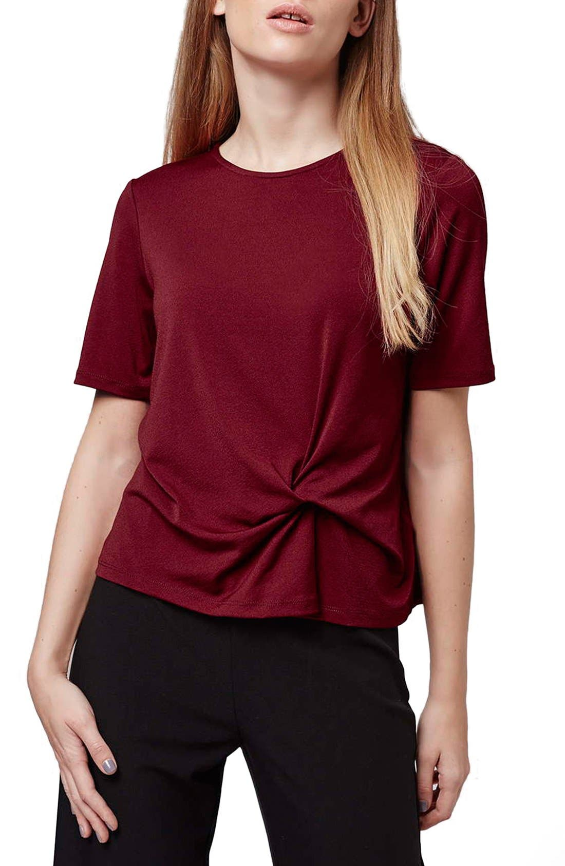 Alternate Image 1 Selected - Topshop Twist Front Tee (Petite)
