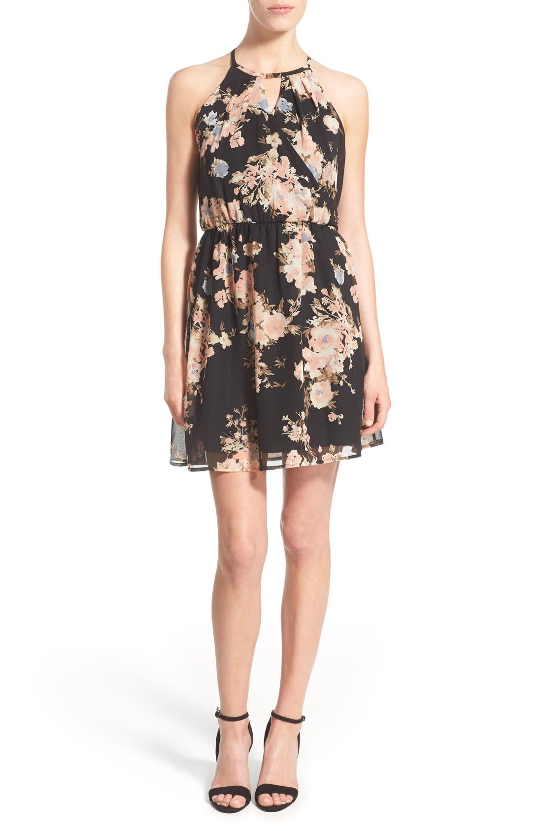 Alternate Image 1 Selected - Sienna Sky Surplice Skater Dress