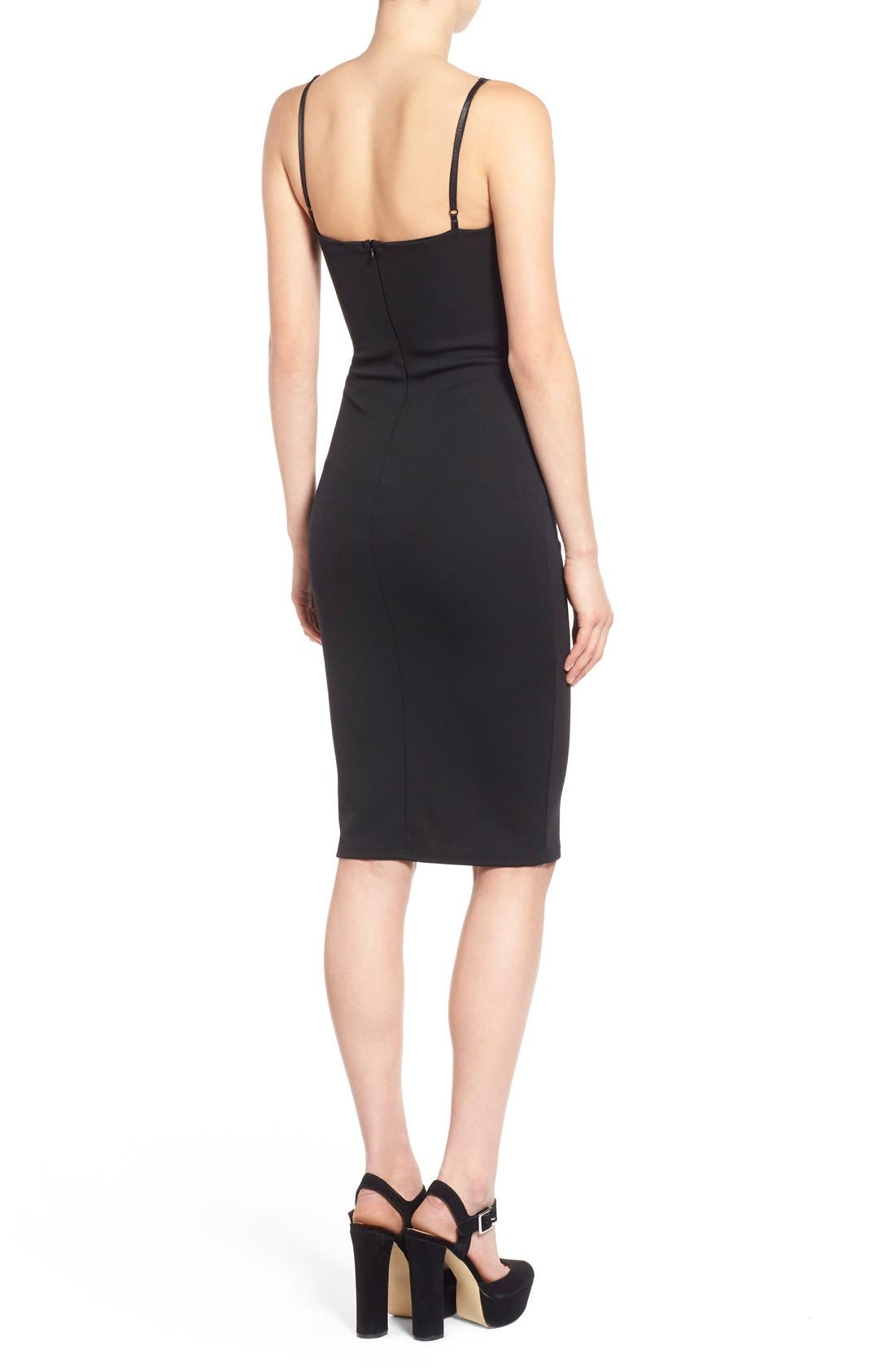 Alternate Image 2  - Missguided V-Neck Body-Con Dress